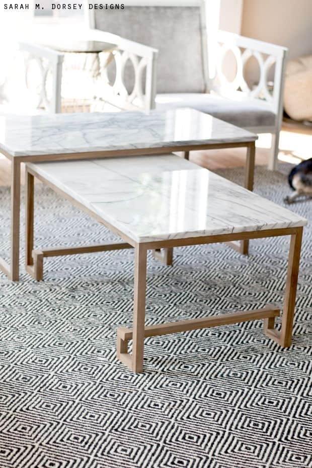 mesas de marmol carrara
