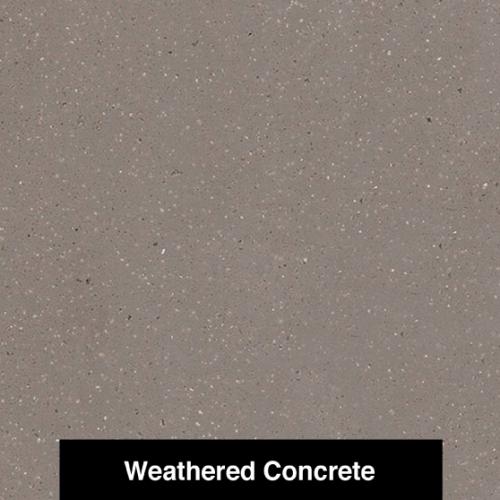 Corian wheathered